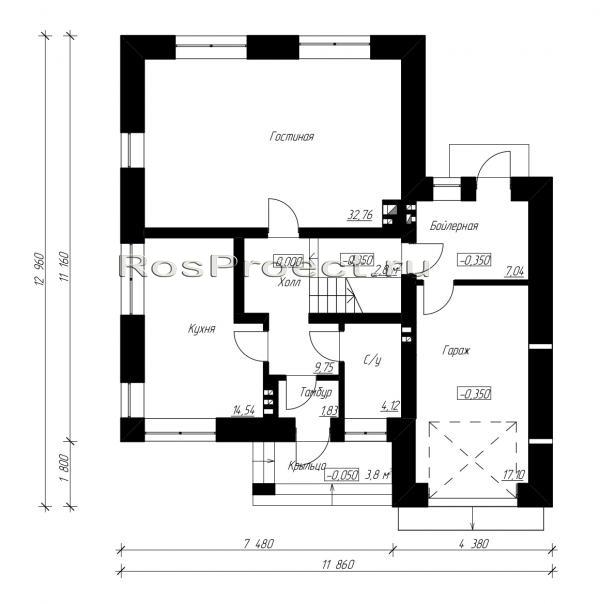 загородный дом 12x11 планировка фото