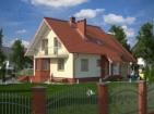Проект просторного дома с цоколем, мансардой и гаражом